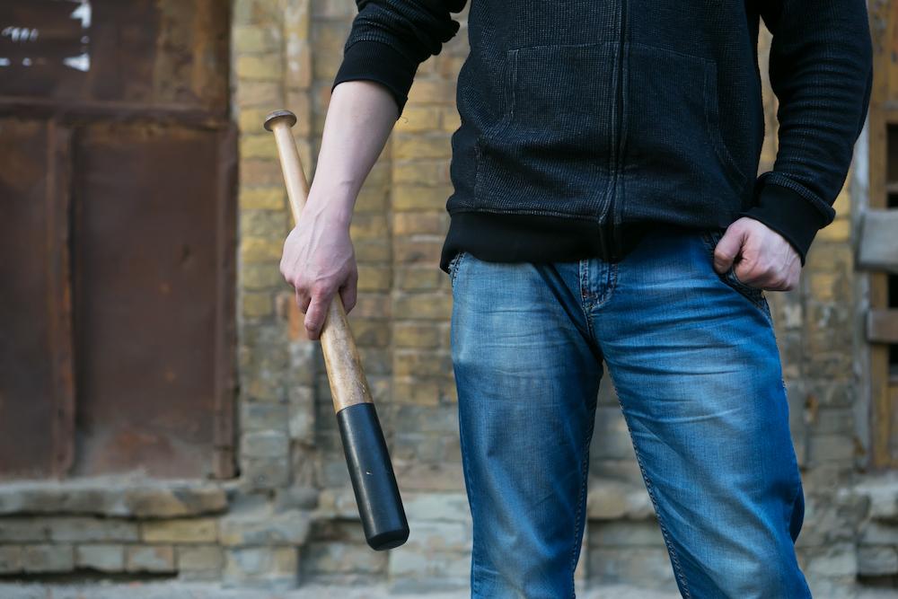 man holding bat